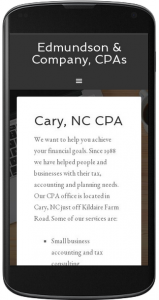 Mobile site home page