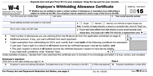 Federal form to adjust withholding for 2015