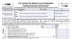 2014 Form 1120-S