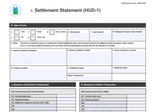 HUD-1, also known as a closing statement and as a settlement statement